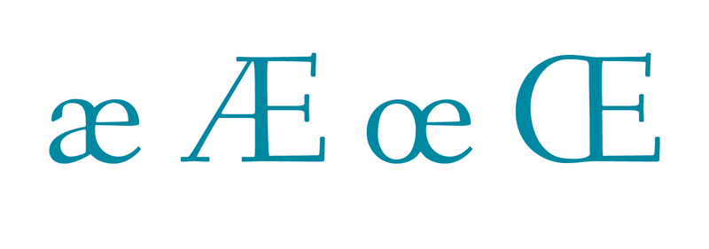 Orthographic ligatures, also called Grapheme