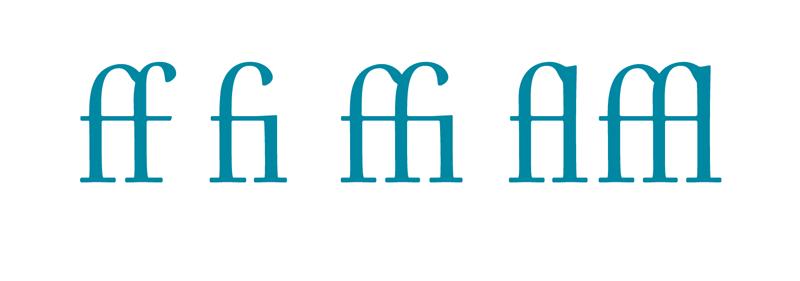 Standard latin ligatures